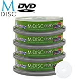 40 Pack Smartbuy M-Disc DVD 4.7GB 4X HD White Inkjet Printable 1000 Year Permanent Data Archival / Backup Blank Media Recordable Disc