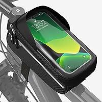 Velmia Fahrrad Rahmentasche [Wasserdicht] - Fahrrad Handyhalterung ideal fürs Navi - Fahrradtasche Rahmen mit/ohne...