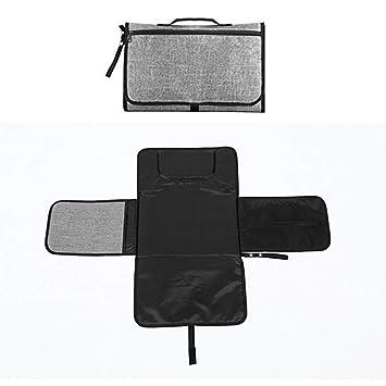Black New Travel Changing Mat Fold Away Waterproof