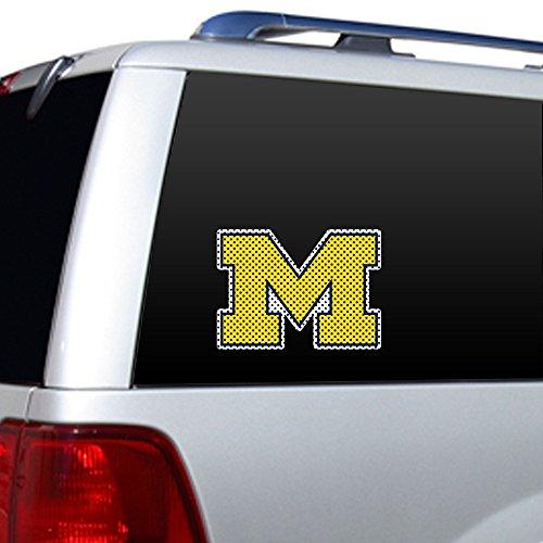 Fremont Die NCAA Michigan Wolverines Large Window Film, - Magnet Mount Antenna 12 Inch