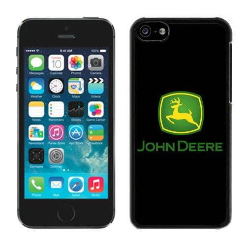 John Deere Logo 1 Black Shell Case for iPhone 5C,Luxury Cover (John Deere Phone Cases 5c)
