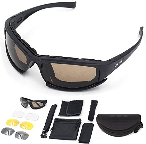 750d8fed25 ZHIYIJIA Sports Sunglasses Polarized Motorcycle Goggles Padded Strap UV 4  interchangeable Lens For Men Women Bicycle Motocross Skiing Running - Buy  Online ...