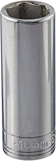 product image for SK Professional Tools 8416 3/8in. Drive 6-Point Metric Extra Deep Chrome Socket - 16mm, Cold Forged Steel Socket with SuperKrome Finish, Made in USA