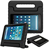 Fintie Case for All-New Fire HD 8 Tablet (7th and 8th Generation Tablets, 2017 and 2018 Releases) - [Kids Friendly] Shock Proof Light Weight Convertible Handle Stand Protective Cover, Black