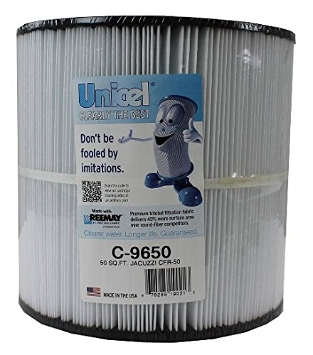 Unicel C-9650 Replacement Filter Cartridge for 50 Square Foot Jacuzzi CFR-50 ()