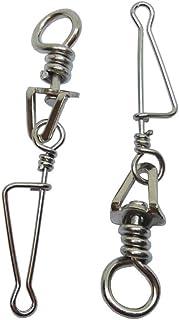 CUSHY 20 pièces Pêche pivotante à l'italienne n ° 4 Pêche en Acier Inoxydable Accessoires Connecteur Terminal Tackle: Taille 2