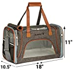 Mr. Peanut's Airline Approved Soft Sided Pet Carrier, Low Profile Luxury Travel Tote with Fleece Bedding & Safety Lock, Under Seat Compatability, Perfect for Cats and Small Dogs (Charcoal Ash)