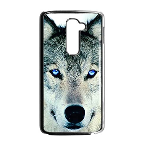 The Wolf Face With Blue Eyes Cool Fashion Design Hot Custom Luxury Cover Case For LG G2 AT&T(Black) with Best (Att Lg G2 Phone)