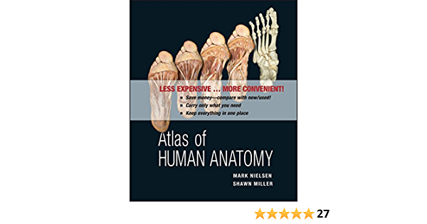 Atlas Of Human Anatomy 9780470917473 Nielsen Mark T Miller Shawn D Books