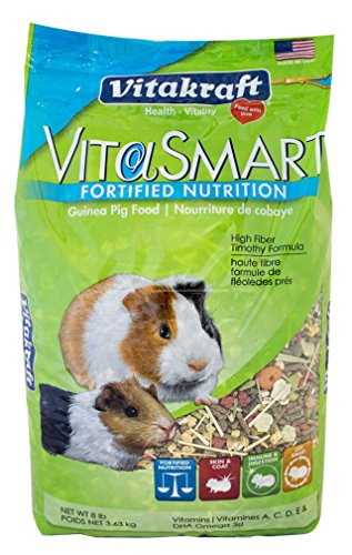 Vitakraft Guinea Pig Food High Fiber Timothy Formula (1 Pouch), 8 lb by Vitakraft