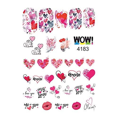 32 Valentine I Love You Water Nail Stickers for Your Nail Art Design (SL-4183)