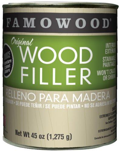 FAMOWOOD Original Wood Filler -Maple - Quart Net Wt 45oz(1,275g) - Famowood Solvent