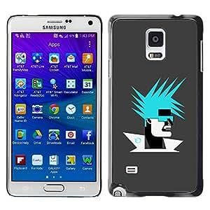 COVERO Samsung Galaxy Note 4 SM-N910F SM-N910K SM-N910C SM-N910W8 SM-N910U SM-N910 / Abstract Portrait / Prima Delgada SLIM Casa Carcasa Funda Case Bandera Cover Armor Shell PC / Aliminium