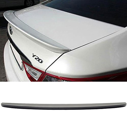 Trunk Spoiler Fits 2011-2014 Hyundai YF Sonata Saloon | ABT Style Unpainted ABS Added On Lip Wing Bodykits by IKON MOTORSPORTS | 2011 2012 2013 2014