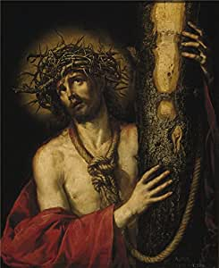 Perfect effect canvas ,the High Definition Art Decorative Canvas Prints of oil painting 'Pereda y Salgado Antonio de Cristo Varon de Dolores 1641 ', 12 x 15 inch / 30 x 37 cm is best for Home Theater artwork and Home artwork and Gifts