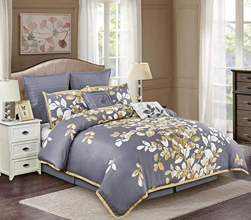 Wonder-Home Penelope 8PC Embellished Comforter Set, Queen, Grey from Wonder-Home