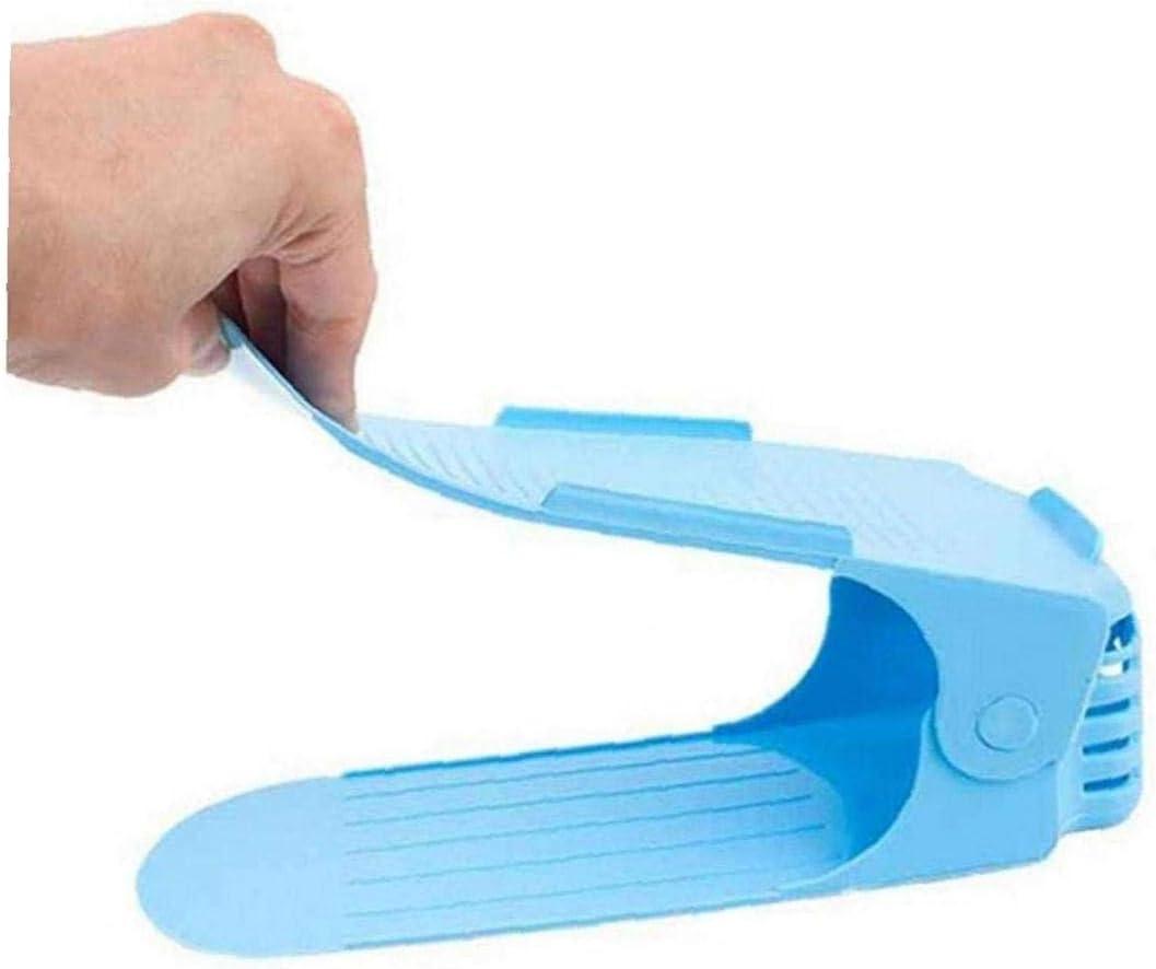 Yililay Bastidores de Zapatos, Zapatos Organizador Soporte Zapatos Estante Simple Almacenamiento de Limpieza en Rack Azul