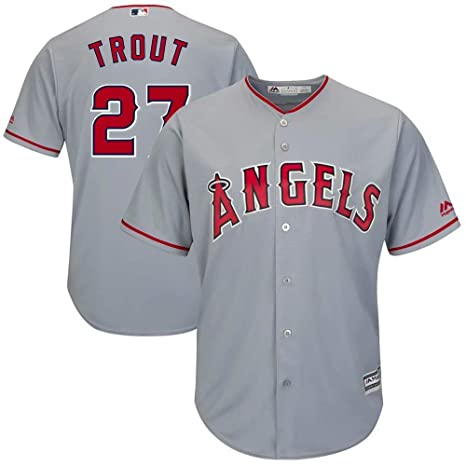 competitive price 9965d 15a6a Amazon.com : VF Mike Trout #27 Baseball Uniform Los Angeles ...