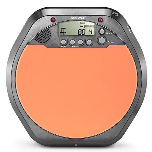 Neewer Digital Drum Pad Metronome Drummer Training Practice with Stereo Earphone