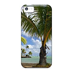 Christmas White Colored Lights In Trees with Snow For Htc M7 Cover Armor Phone Case