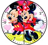 Rusch Inc. Mickey Mouse and Minnie Mouse Wall Clock