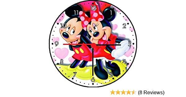 Amazon.com: Rusch Inc. Mickey Mouse and Minnie Mouse Wall Clock: Home & Kitchen