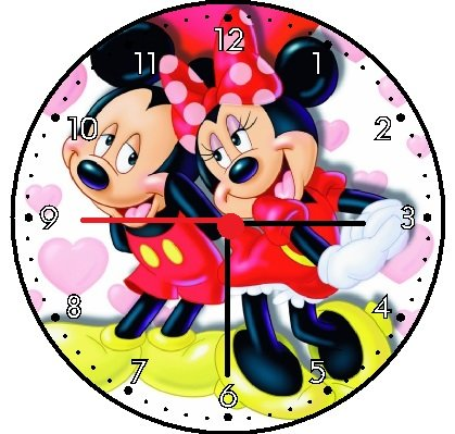 Disney Wall Clocks - Rusch Inc. Mickey Mouse and Minnie Mouse Wall Clock