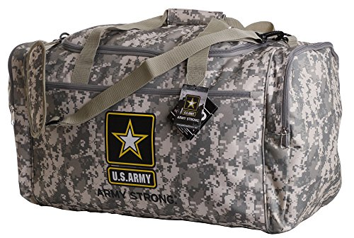 Us Military Official Licensed Duffle Gym Luggage Bag (US Army Camo) ()