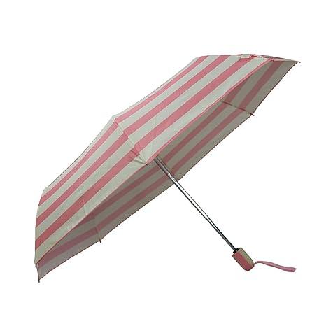 Paraguas plegables Tres Doblar Doblar Paraguas Lluvia Y Paraguas De La Lluvia Plegable Llanura Parrilla Paraguas