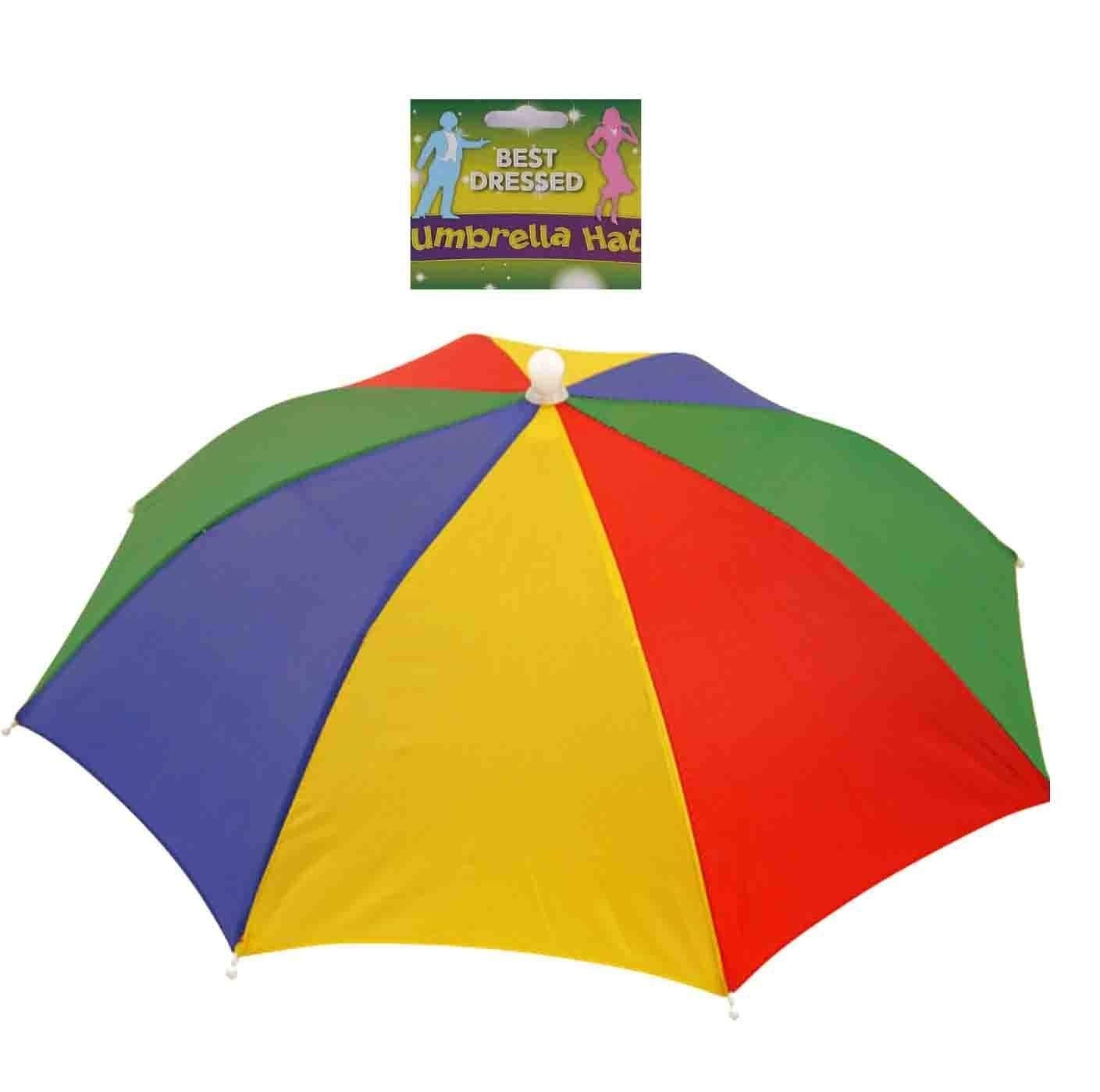 Best Dressed Multi Coloured Umbrella Hat Fancy Dress Accessory Henbrandt