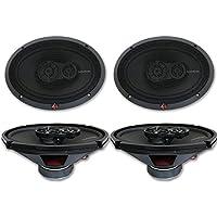4 x Rockford Fosgate R169X3 6x9 3-Way Car Audio Coaxial Speakers 6 x 9