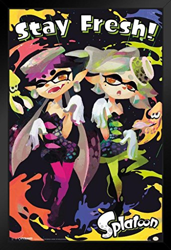 Pyramid America Splatoon Stay Fresh Video Game Gaming Framed Poster 14×20 inch
