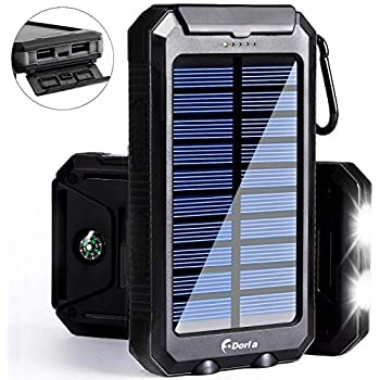 Consumer Electronics Solar Battery Power Bank Case Diy Kit Portable External Battery Charger With Camping Compass Led Light diy By Yourself
