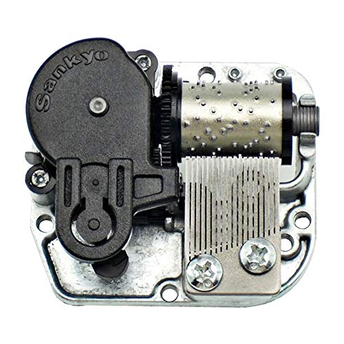 (Bankour Silver Plated Wind up Sankyo Musical Movement for DIY Music Boxes (50 Tunes Option) (Hedwigs Theme))