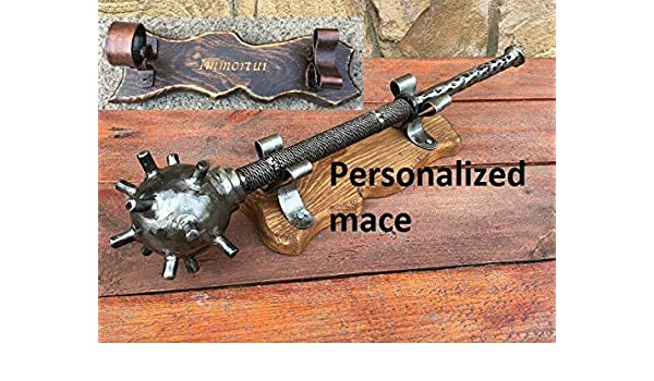 Wooden handmade Mace for a real man,carved,ancient Ukrainian weapon,gift