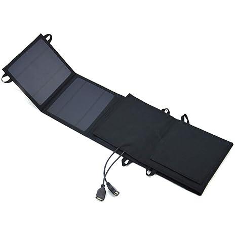 HYLMM 18w Cargador Solar de Carga Solar Bolsa de batería 2a ...