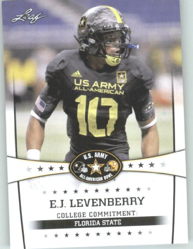 2013 Leaf Army All-American Football Card #27 E.J. Levenberry LB - Florida State Seminoles (RC - Rookie Card) First Licensed Trading Card