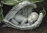 Roman 14.5″ Joseph's Studio Sleeping Baby in Angel Wings Outdoor Garden Figure Statue