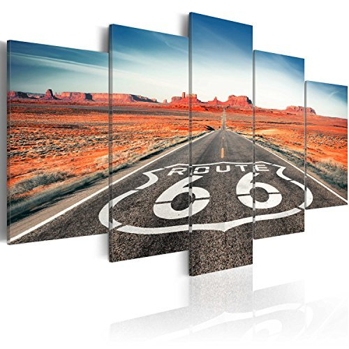 Modern Home Decorations Wall  Canvas Painting Wall Art Pictures 5 pieces Route 66 road landscape