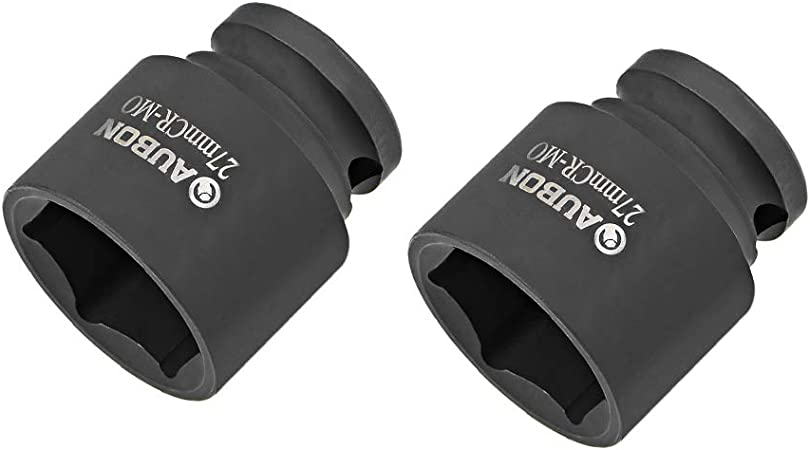 uxcell 1//2-inch Drive 24mm 6 Point Socket Shallow and Deep Set Cr-V Steel 2 Pcs