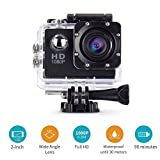 Action Camera,cresawis Sport DV 1080P Mini 30-Meter Waterproof 2 inch TFT LCD HD 5MP Helmet Camera Cam Extreme Action Camcorder With Battery, Charger and Accessories (Black)