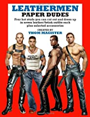 Thom Magister's first adult paper doll book offers four hot paper dudes who enjoy wearing leather, denim, uniforms, and fetish gear. Each dude has seven different outfits, including cop, cowboy, and military styles, plus bondage accessories a...