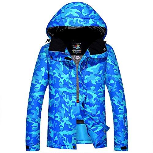 HUA&X Los hombres Abrigo de invierno Ski chaqueta impermeable a prueba de viento cálido Zipper engrosada