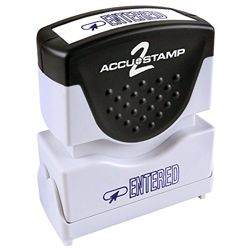 ACCU-STAMP2 Message Stamp with Shutter, 1-Color, ENTERED, 1-5/8