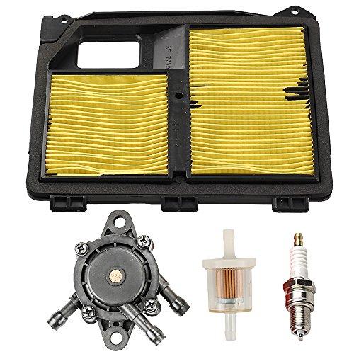 (Buckbock 17010-ZJ1-000 Air Filter w/Fuel Filter Pump Spark Plug for Honda GX610 GX620 GXV610 GXV620 17218-ZJ1-000 17211-ZJ1-000 831036C EB11000 Generator)