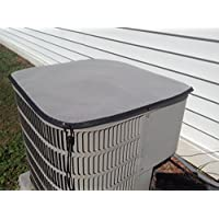Outdoor Air Conditioner Covers - PremierAcCovers - Winter - Tight Breathable Mesh Top Cover - 24X24- Gray
