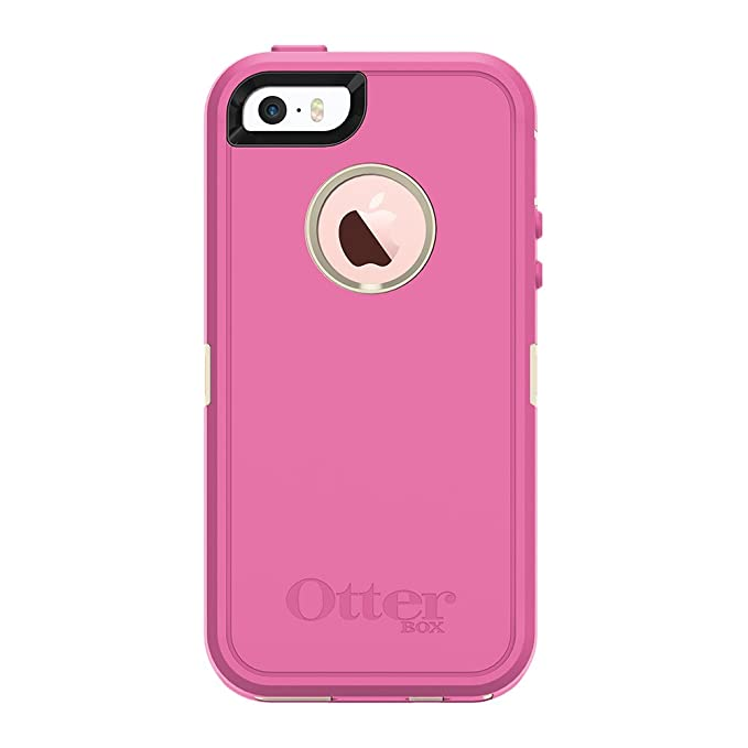 hot sale online ec3ae b9183 OtterBox DEFENDER SERIES for iPhone 5/5s/SE - Retail Packaging - BERRIES N  CREAM (SAND/HIBISCUS PINK)