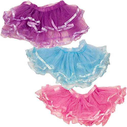 Tutus for Girls Set of 3 -- Dress Up Tutu Costumes -- Pink, Purple and Blue Crenstone Tutus for Girls; Tutus for Toddlers