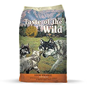 Taste of the Wild High Prairie Grain-Free Roasted Venison & Bison Dry Puppy Food, 5 lbs.