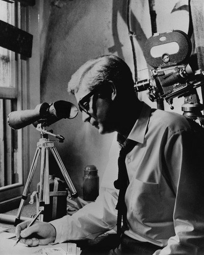 Michael Caine in The Ipcress File with cameras during surveillance operation 11X14 Promotional Photograph